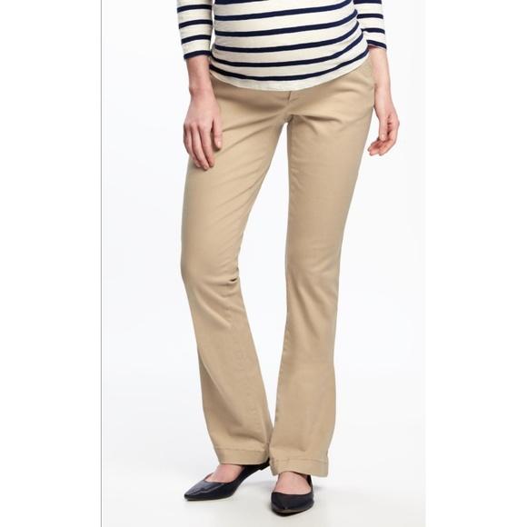 853a6a3170087 Old Navy Pants | Maternity Bootcut Khakis Size 10 | Poshmark